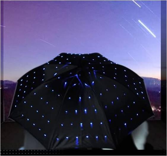 led sternen himmel regenschirm. Black Bedroom Furniture Sets. Home Design Ideas